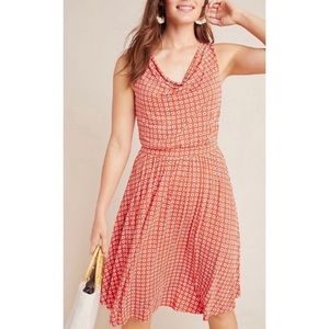 Anthropologie Maeve Brianne Cowl Neck Dress